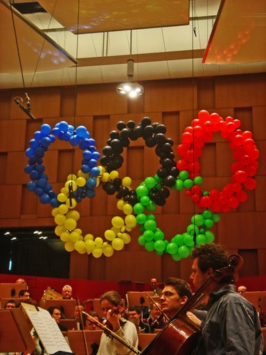 Olympische Ringe beim NDR-Hannover