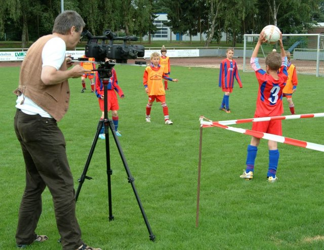 Filmaufnahmen 3D Film SG Borken, Foto: Peter Marohn