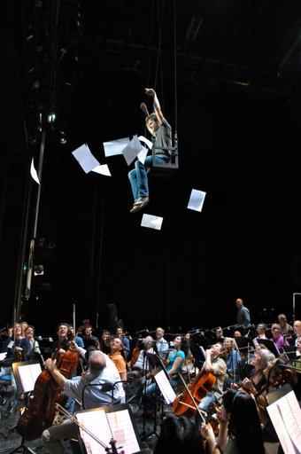 Flucht des Tubisten-Probe Sinfonieorchester Aachen, Foto: Sandra Borchers