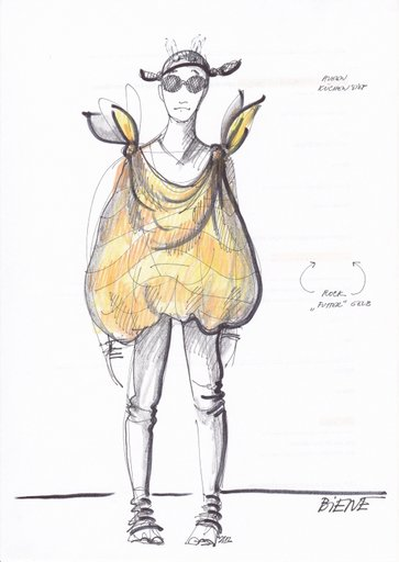 Marte als Biene, Skizze: Jan Kocman